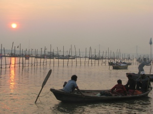 Sunset at Sangam, Allahabad, India ©NitinKaushal/WWF-India