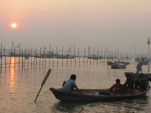 Sunset at Sangam, Allahabad, India ©NitinKaushal/WWF-India