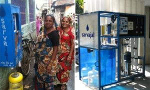 Solar Powered water ATMs in Ahmedabad, India ©URB.im