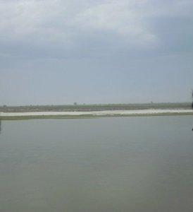 River Ganga (Ganges) at Narora India